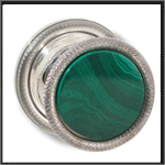 Malachite and SS knob