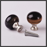 Tigers eye and stainless steel knob