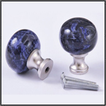 Sodelite and stailness steel knob