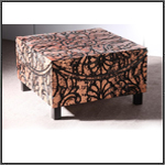 Furniture - antique copper leafing, coffee table