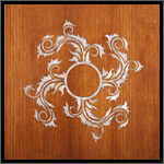 Inlay on veneer - Pearl medallion